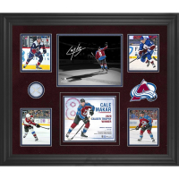Cale Makar Signed 20x24 Custom Framed LE Custom Framed Game-Used Net Display (Fanatics Hologram) at PristineAuction.com