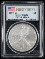 2007-W American Silver Eagle $1 One Dollar Coin (PCGS MS69) at PristineAuction.com