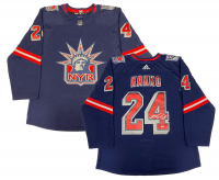 Kaapo Kakko Signed Rangers Jersey (Fanatics Hologram) at PristineAuction.com