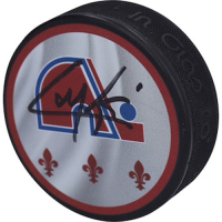 Cale Makar Signed Avalanche Logo Hockey Puck (Fanatics Hologram) at PristineAuction.com