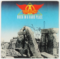 """Steven Tyler & Joe Perry Signed """"Rock In A Hard Place"""" Album Cover (JSA Hologram) (See Description) at PristineAuction.com"""
