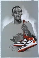 Tony Santiago - Michael Jordan - Bulls 13x19 Signed Lithograph (PA COA) at PristineAuction.com