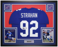 Michael Strahan Signed 35x43 Custom Framed Jersey (Beckett COA) at PristineAuction.com