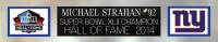 Michael Strahan Signed 35x43 Custom Framed Jersey (Beckett COA) at PristineAuction.com