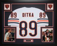 Mike Ditka Signed 35x43 Custom Framed Jersey (JSA COA) at PristineAuction.com