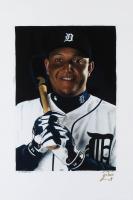 Miguel Cabrera - Tigers - Joshua Barton 12x18 Signed Limited Edition Lithograph #/250 (PA COA) at PristineAuction.com