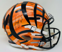 Joe Burrow Signed Bengals LE Full-Size Authentic On-Field Speed Helmet Hand-Painted Art by Charlie Turano III (Fanatics Hologram) at PristineAuction.com