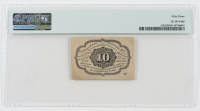1862 10¢ Ten Cents United States Fractional Bank Note (Fr #1242) (First Issue) (PMG 53) at PristineAuction.com