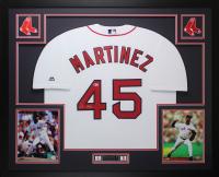 Pedro Martinez Signed Boston Red Sox 35x43 Custom Framed Jersey (Beckett COA) at PristineAuction.com