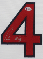 Pedro Martinez Signed Boston Red Sox 35x43 Custom Framed Jersey (Beckett COA) at PristineAuction.com
