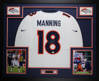 Peyton Manning Signed 35x43 Custom Framed Jersey (Fanatics Hologram) at PristineAuction.com