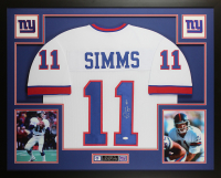 Phil Simms Signed 35x43 Custom Framed Jersey (JSA COA) at PristineAuction.com