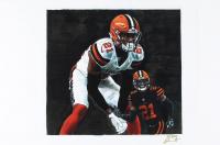 Denzel Ward - Browns - Joshua Barton 12x18 Signed Limited Edition Lithograph #/250 (PA COA) at PristineAuction.com
