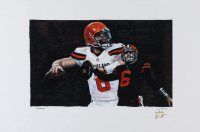 Baker Mayfield - Browns - Joshua Barton 12x18 Signed Limited Edition Lithograph #/250 (PA COA) at PristineAuction.com