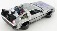 """Christopher Lloyd Signed """"Back to the Future II"""" DeLorean Time Machine 1:24 Scale Die-Cast Car (Beckett COA) at PristineAuction.com"""