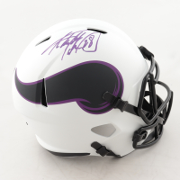 Adrian Peterson Signed Vikings Full-Size Lunar Eclipse Alternate Speed Helmet (Beckett COA) at PristineAuction.com