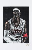 Allen Iverson - 76ers - Joshua Barton 12x18 Signed Limited Edition Lithograph #/250 (PA COA) at PristineAuction.com