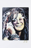 Janis Joplin - Joshua Barton 12x18 Signed Limited Edition Lithograph #/250 (PA COA) at PristineAuction.com