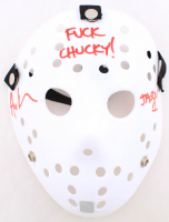 "Ari Lehman Signed ""Friday the 13th"" Mask Inscribed ""F*** Chucky!"" & ""Jason 1"" (Lehman Hologram) at PristineAuction.com"