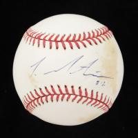 Lou Montanez Signed OML Baseball (MLB Hologram) at PristineAuction.com