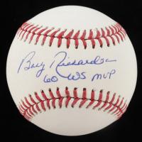 "Bobby Richardson Signed OML Baseball Inscribed ""60 WS MVP"" (JSA COA) at PristineAuction.com"