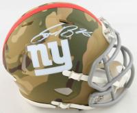 Saquon Barkley Signed Giants Camo Alternate Speed Mini Helmet (Beckett COA) at PristineAuction.com