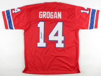 Steve Grogan Signed Jersey (JSA COA) at PristineAuction.com