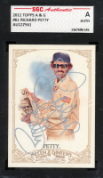 Richard Petty Signed 2012 Topps Allen and Ginter Mini A and G Back #61 (SGC Encapsulated) at PristineAuction.com