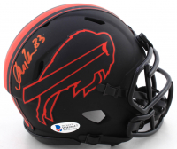 Andre Reed Signed Bills Eclipse Alternate Speed Mini Helmet (Beckett COA) at PristineAuction.com
