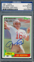 Joe Montana Signed 1981 Topps #216 RC (PSA Encapsulated) at PristineAuction.com