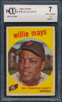 Willie Mays 1959 Topps #50 (BCCG 7) at PristineAuction.com