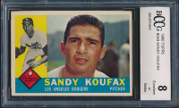 Sandy Koufax 1960 Topps #343 (BCCG 8) at PristineAuction.com