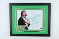 "Ted DiBiase Signed WWE 18x22 Custom Framed Photo Display Inscribed ""Everybodys Got A Price"" & ""HOF 2010 $"" (Fiterman Sports Hologram) at PristineAuction.com"