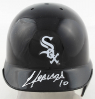 Yoan Moncada Signed White Sox Mini Batting Helmet (Beckett COA) at PristineAuction.com