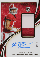 Tua Tagovailoa 2020 Immaculate Collection Collegiate Premium Patches Rookie Autographs #106 at PristineAuction.com