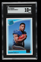 Saquon Barkley 2018 Donruss #306 RR RC (SGC 10) at PristineAuction.com