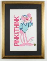 """Friz Freleng Signed LE """"The Pink Panther"""" 18.75x24.5 Custom Framed Print Display (Freleng Hologram) at PristineAuction.com"""