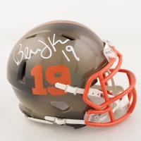 Bernie Kosar Signed Browns Hydro-Dipped Speed Mini Helmet (Beckett COA) (See Description) at PristineAuction.com