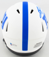 Saquon Barkley Signed Giants Lunar Eclipse Alternate Speed Mini Helmet (Beckett COA) at PristineAuction.com