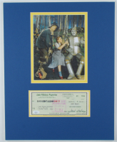 "Jack Haley Signed ""The Wizard Of Oz"" 16x20 Custom Matted Personal Bank Check Display (JSA COA) at PristineAuction.com"