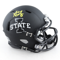 Allen Lazard Signed Iowa State Cyclones Matte Black Speed Mini Helmet (Beckett COA) (See Description) at PristineAuction.com