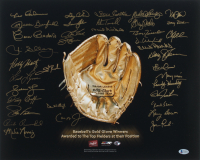Gold Glove Award Winners 16x20 Photo Signed by (37) Including Leo Cardenas, Jesse Barfield, Cesar Cedeno, Jim Sundberg (Beckett LOA) at PristineAuction.com