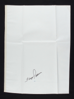 Floyd Patterson Signed 17x25 Canvas Page (JSA COA) at PristineAuction.com