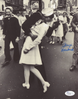 "George Mendonsa Signed ""The Kissing Sailor"" 8x10 Photo (JSA Hologram) at PristineAuction.com"