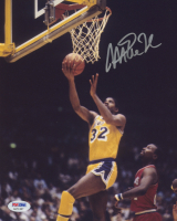 Magic Johnson Signed Lakers 8x10 Photo (PSA COA) at PristineAuction.com