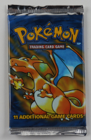 1999 Pokemon Art Base Set Charizard Booster Pack with (11) Cards at PristineAuction.com