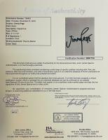 "Jimmy Page, Robert Plant & John Paul Jones Signed ""Led Zeppelin"" 27x31.5 Custom Framed Photo & Cut Display (JSA LOA & JSA COA) at PristineAuction.com"