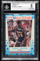 Magic Johnson 1989-90 Fleer Stickers #5 (BGS 8) at PristineAuction.com