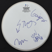"Marilyn Manson, Madonna Wayne Gacy, Ginger Fish, & Twiggy Ramirez Signed 11"" Drumhead (Beckett LOA) at PristineAuction.com"