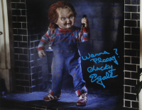 "Ed Gale Signed ""Child's Play"" 11x14 Photo Inscribed ""Wanna Plaaay?"" & ""Chucky"" (AutographCOA COA) at PristineAuction.com"
